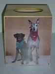 Custom Tissue Box Featuring Dog Photo